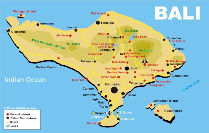 Bali-Map. - Bali Discover